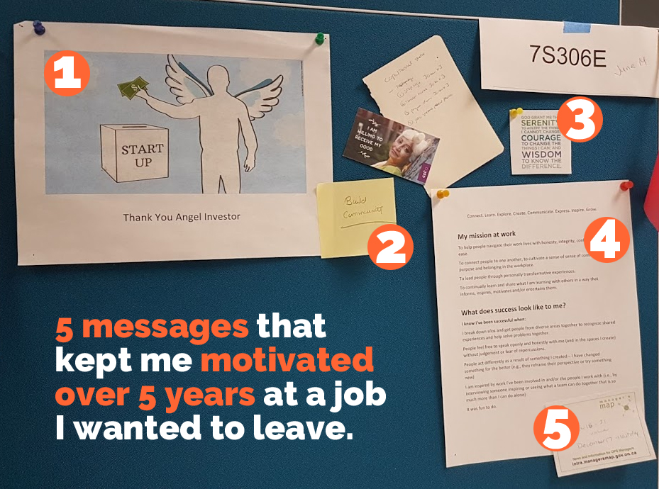 5 messages that kept me motivated over 5 years at a job I wanted to leave